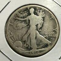 1916-S  SILVER WALKING LIBERTY HALF DOLLAR NICE COIN