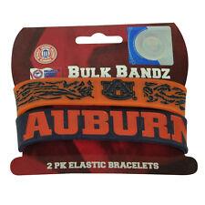NCAA Auburn University Tigers Bracelet 2 Piece Elastic Band Fan Womens Ladies