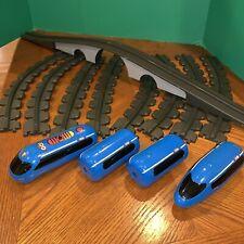 Little Tikes Touch n Go Bullet Train-Complete-4 Trains-Sounds Move-Bridge Track