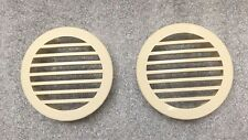 "1 Pair RV Marine Boat 3"" Curved Face Air Flow Vent Beige Easy Snap On"