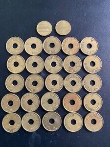 25x Wittenborg Wertmarke Token Coin Jeton Münze A 2x Servomat Steigler