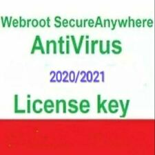 Webroot secureanywhere ANTIVIRUS 2020 (1PC/330 giorni +/Serial/100%) valido