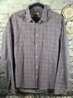 KENZO Paris mens slim fit button down shirt plaid checks sz S- 40/15.3/4