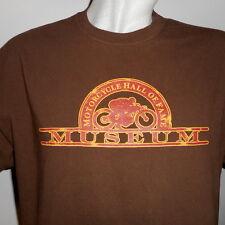 Motorcycle Hall of Fame Museum David Mann Sz XL T-Shirt Brown Extra Large Biker