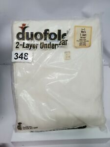NEW Vintage DUOFOLD VINTAGE 2 LAYER UNDERWEAR  SHIRT size large Mens thermal
