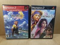 Final Fantasy X & X-2 (Sony Playstation 2 ps2) Lot Set of 2 Canadian