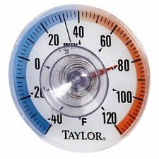 (2 Pack) Taylor Stick-on Dial Window Thermometer