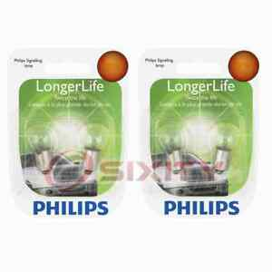 2 pc Philips License Plate Light Bulbs for Sunbeam Arrow 1967-1970 om