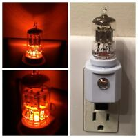 6AK5 6AL5 Style Vintage Vacuum Tube Amber LED Night Light Guitar TV Ham Radio