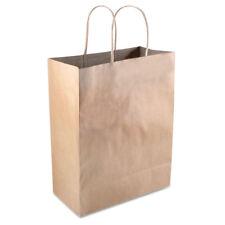 COSCO Premium Shopping Bag Paper 8 x 10 1/4 Brown 50/Box 098375