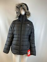 NWT The North Face GOTHAM II Black Down Insulated Hooded Jacket Women's Size M