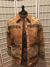 Women's size 16 Sag Harbor Tan/Brown/gold Heavy Suit Jacket