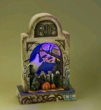 Jim Shore | HAUNTED EVE Graveyard Diorama Lighted Figurine *NEW IN BOX* 4017589