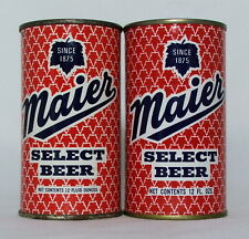 New ListingMaier Select Beer 12 oz. Flat Top Beer Cans-Maier Brewing Co., Los Angeles, Ca.
