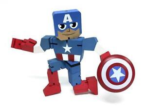 "Marvel Wood Warriors 8"" Captain America"