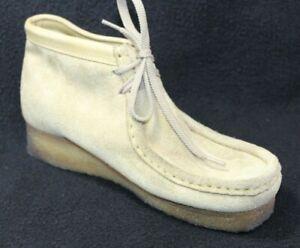Clarks Original Wallabee Suede Desert Sand Ankle Boots Shoes Women's Size 6.5 M