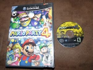 Mario Party 4 (Nintendo GameCube, 2002) DISK TESTED, ORIGINAL CASE Family Fun