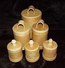 """Behälter-Set aus 6 Stück """"Beresta"""", aus Birkenrinde, NEU"""