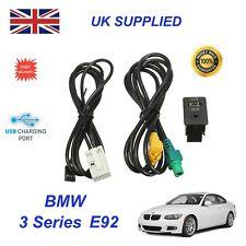 POUR BMW 3 E92 USB Aux Switch & USB Câble 3.5 Mm Câble Aux Adaptateur 3CD 035 249 A