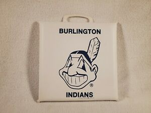 Vtg Burlington NC Indians Minor League Baseball Team Logo Stadium Seat Cushion