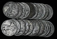 20 Early Date Walking Liberty Half Dollars - 1917-1920 Various Dates and MM