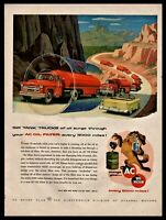 1957 CHEVROLET Tanker Truck and Bel Air Yellow Convertible AC Oil Filters AD