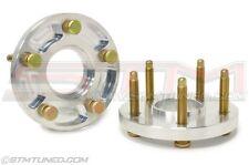 (2) STM 20mm Aluminum wheel spacers w/ ARP Studs EVO x 8 9 DSM  5x114.3 1 PAIR