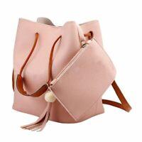 PU Leather Women Tassel Shoulder Handbag Cross Body Purse Tote Messenger Bag