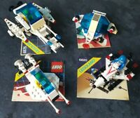 4x Lego Vintage Space sets 6830, 6820, 6875+6850 instructions complete and rare