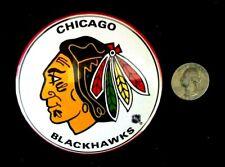 "NHL CHICAGO BLACK HAWKS HOCKEY 3 1/4"" DIAMETER LICENSED PINBACK"