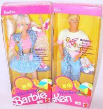 """Mattel USA 12"""" WEEKEND BARBIE & KEN Doll Figure Set MISB`91 RARE!"""