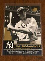 2009 Upper Deck SPx Baseball Career Highlights #44 - Joe DiMaggio - Yankees