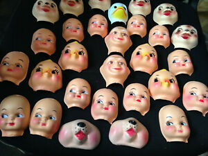 29 new craft doll faces plastic faces for making dolls.