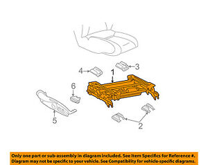Buick GM OEM 2004 Regal Power Seat-Bottom Base Tracks Adjuster 88899124