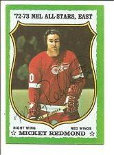 Mickey Redmond 1973-74 TOPPS AUTOGRAPH HOCKEY CARD SIGNED DETROIT RED WINGS