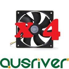 4 Pack New CoolerMaster BRF-L12 Silent 120mm Desktop Computer Fan Cooler Master