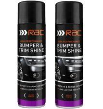 Rac Black Plastic Bumper And Trim Shine Spray Cans Restorer Car Bike Paint 500ML