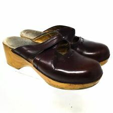 Dansko Womens Leather Mules 6.5 US 37 EU Brown