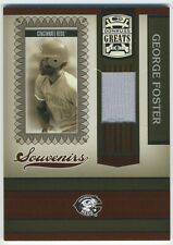 RARE!! ONLY 4 MADE 2005 Donruss Greats Souvenirs George Foster Jersey Card SSP!!
