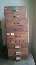 2 ANTIKE SCHUBLADEN Industriedesign Konvolut Loft Vintage alte Holzkisten