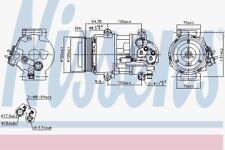 NISSENS 89089 Compressore AC Mercedes Benz Classe A CDI 04