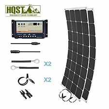 HQST 200 Watt Lightweight Mono Solar Panel Kit Boat Battery Charge Home System