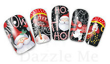 Nail Art Sticker Water Decals Transfer Stickers Father Christmas Santa (DB240)