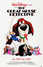 THE GREAT MOUSE DETECTIVE (1986) ORIGINAL MOVIE POSTER  -  ROLLED
