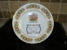 AYNSLEY COMMEMORATIVE PLATE THE QUEEN MOTHER'S EIGHTIETH BIRTHDAY 1980.