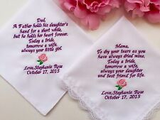 Weddings Handkerchief Gift For Mother Of The Bride -Father Of The Bride/1143