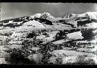 MEGEVE (74) MONT-BLANC , CHALETS & VILLAS en vue aérienne en hiver 1955