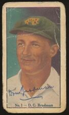 Donald Bradman Original Cricket Trading Cards