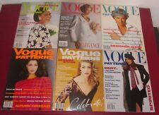 Job Lot 6 VOGUE PATTERNS MAGAZINES 1992 Fashion Lifestyle Chic