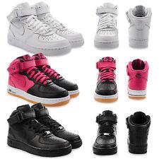 Nike Damen-High-Top Sneaker aus Echtleder mit Schnürsenkeln